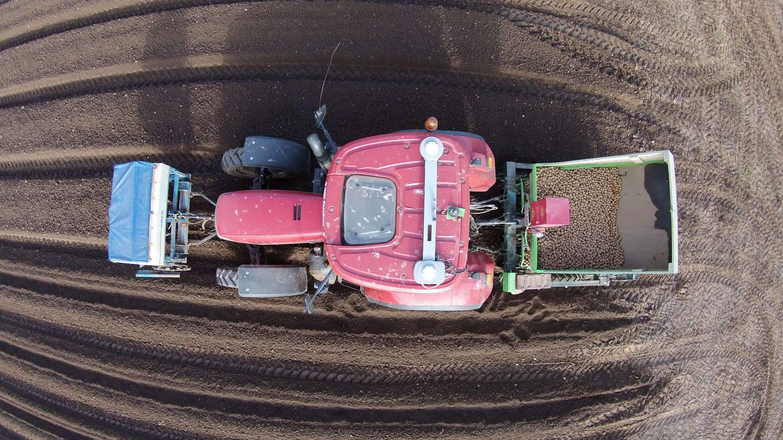 Potato Planting Aerial View